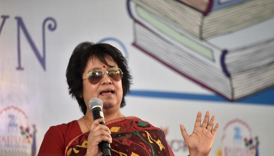 Bangladeshi author,Taslima Nasrin, speaks at the Jaipur Literature Festival  2017 in Jaipur. Nasrin will be speaking at the Delhi Literature Festival on February 12. She will discuss her memoir, 'Exile'.