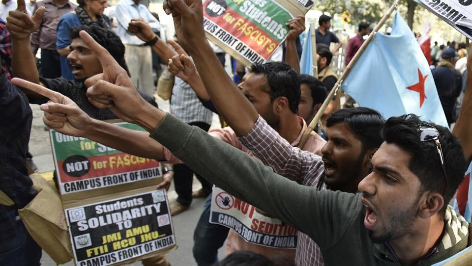 Widespread protests were held after the police slapped two sedition cases against JNU students and a professor last year.
