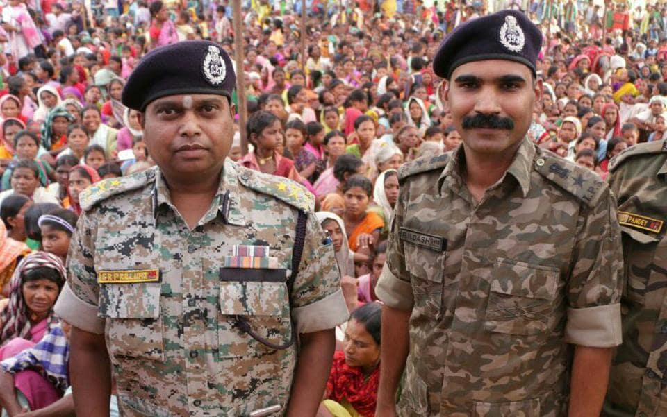 Bastar IG SRP Kalluri (left), who has had a running battle with civil rights activists and the media in Bastar region, was attached to the Chhattisgarh Police headquarters.