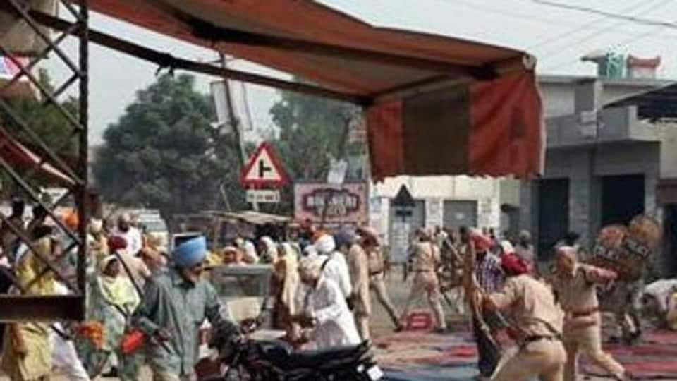 A complaint has been filed against police officials, who had allegedly ordered to open fire on Sikhs protesting against sacrilege incidents at Behbal Kalan village in 2015.