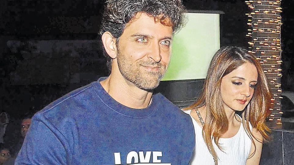 Actor Hrithik Roshan with his ex-wife Sussanne Khan.