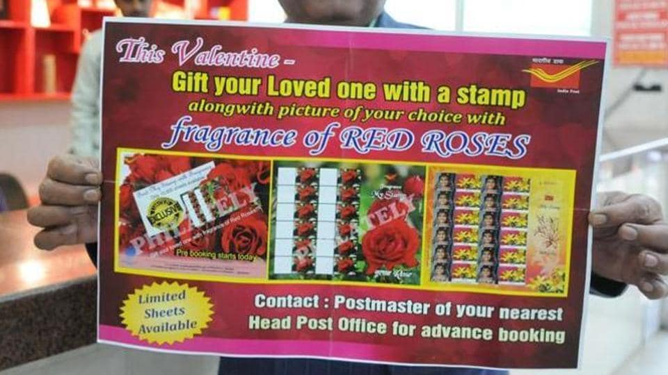 Jharkhand has been given altogether 1,000 rose scented postage stamps for this Valentine week.