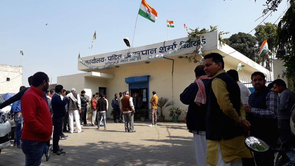 Congress-Samajwadi Party candidate Amarpal Sharma said the liquor was seized from some under- construction houses near the office.