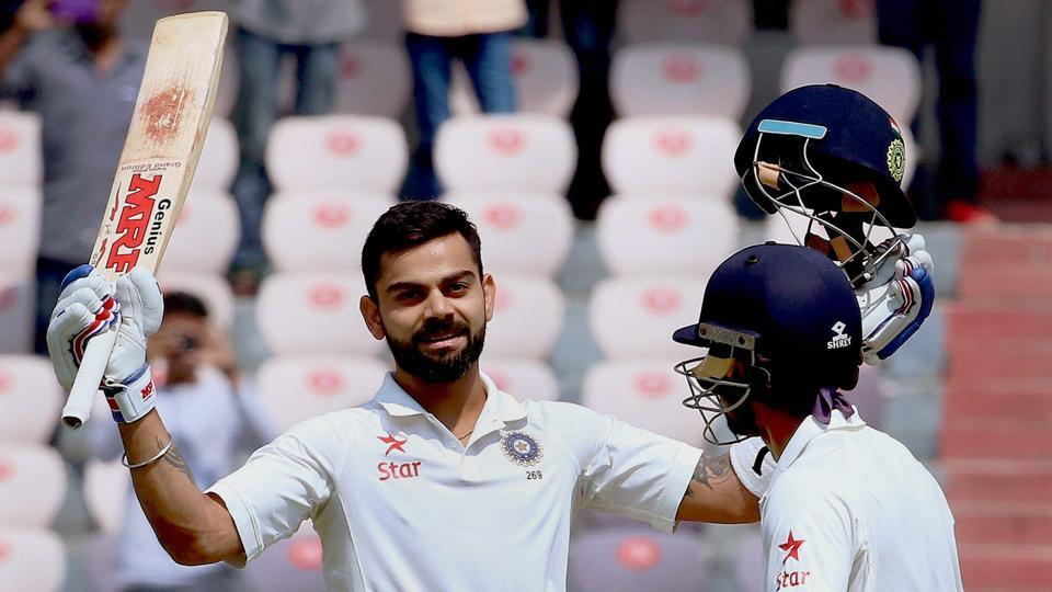 India captain Virat Kohli scored his fourth double hundred in as many series, against Bangladesh, in Hyderabad on Friday.