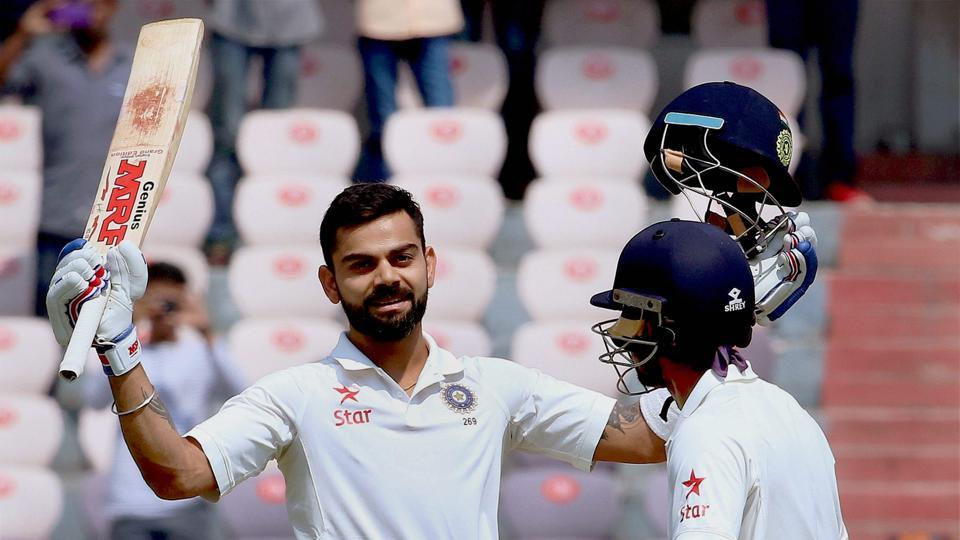 Virat Kohli celebrates his fourth double century on the Day 2 of India vs Bangladesh on Friday.