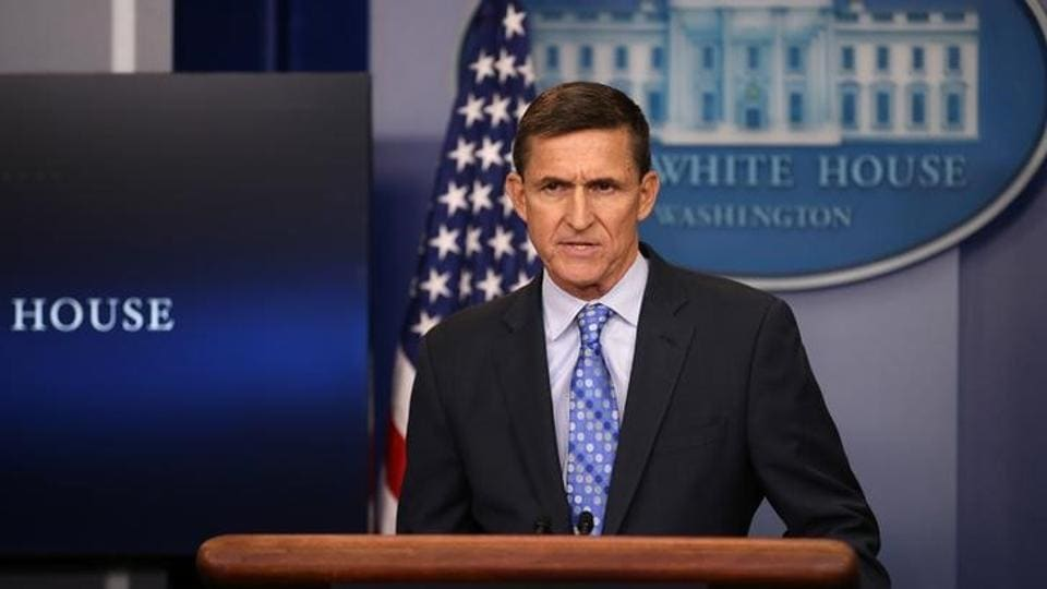 National security adviser General Michael Flynn delivers a statement daily briefing at the White House in Washington.
