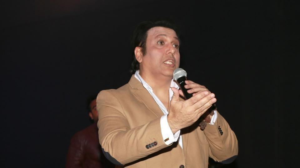 New Delhi: Actor Govinda during a programme organised to promote his upcoming film