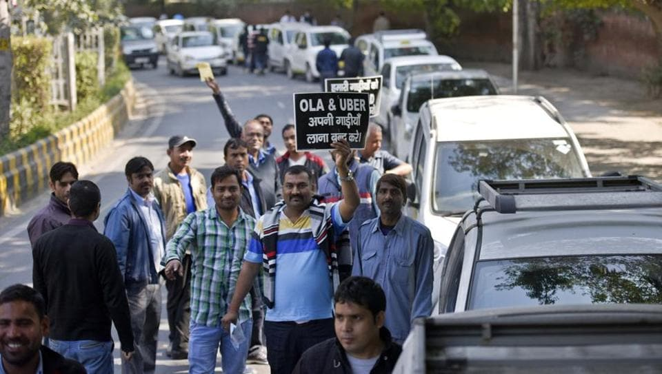 Cab drivers strike