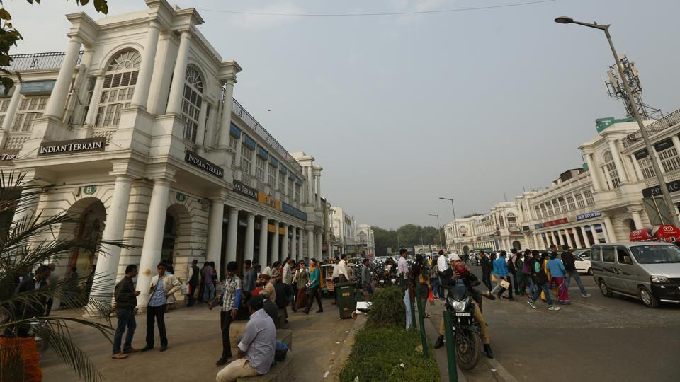 A general view of Connaught Place in New Delhi.