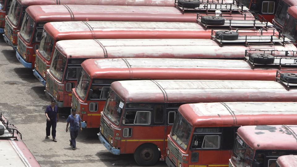 Not a single bus left the Thane depot since 5.00 am on Friday.