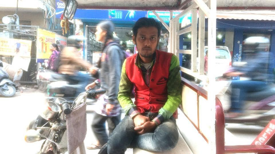 Shadab Hussain 23, formerly employed at a tannery, drives an autorickshaw today.