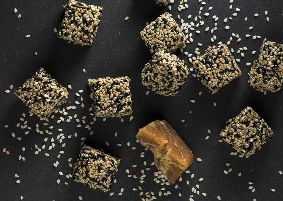 Black sesame seeds are packed with calcium and antioxidants