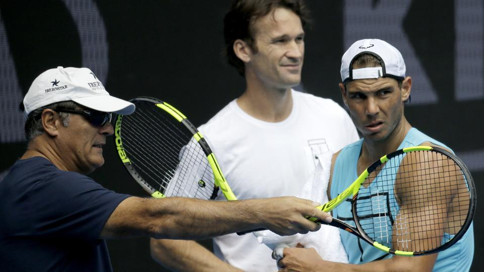 Rafael Nadal (right) will not be accompanied by his uncle Toni Nadal (left) on tours anymore.