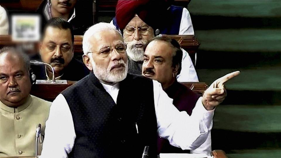 Prime Minister Narendra Modi speaks in Lok Sabha on February 7, 2017