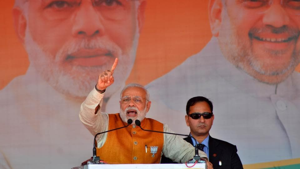 Prime Minister Narendra Modi onSaturday slammed Uttarakhand's Congress government, accusing it of lacking political will for development, and urged the electorate to vote for BJP for the state's growth.