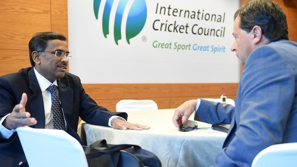 The Indian cricket board's Supreme Court-appointed administrator, Vikram Limaye (left) got some time from the International Cricket Council to study its decision to reverse a revenue model that will hit India financially, but the world body seems to have finalised changes to more evenly distribute the funds.