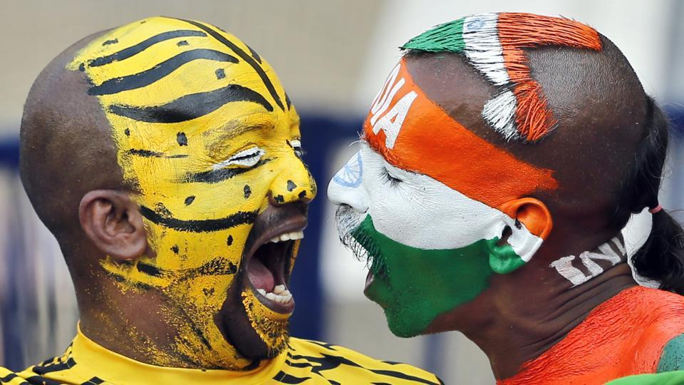 It was a clash of the superfans in Hyderabad during the one-off Test match between India and Bangladesh. (AP)