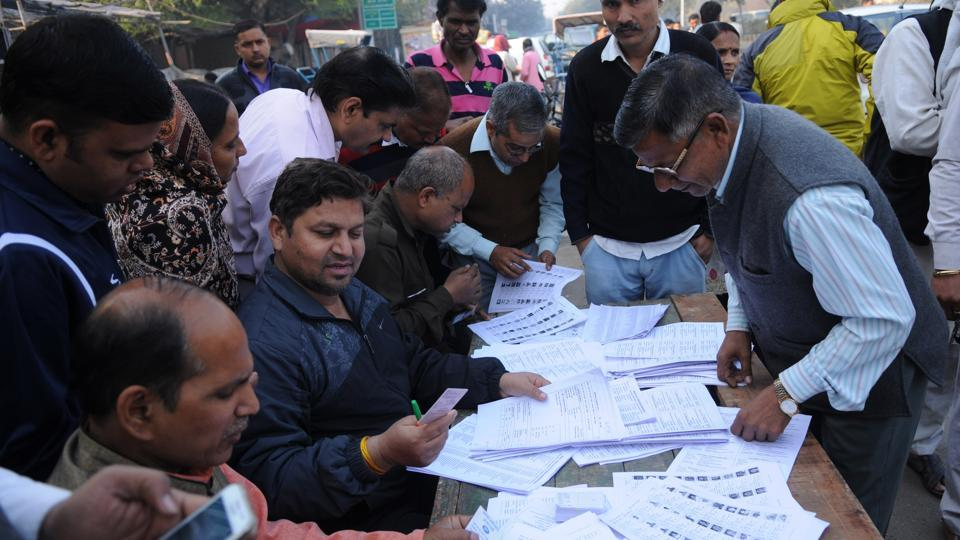 Image result for noida poll booth today
