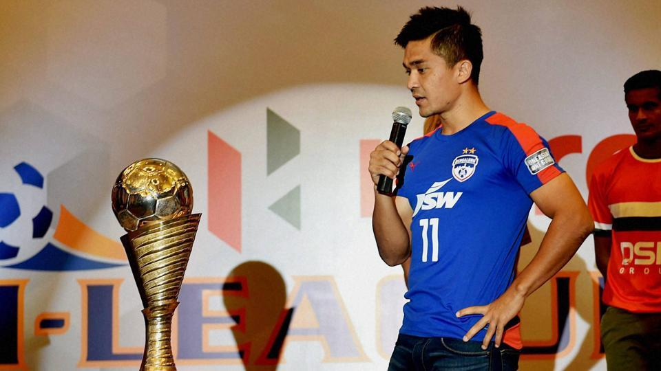 India captain Sunil Chhetri also leads Bengaluru FC in the I-League, India's top-flight football league.