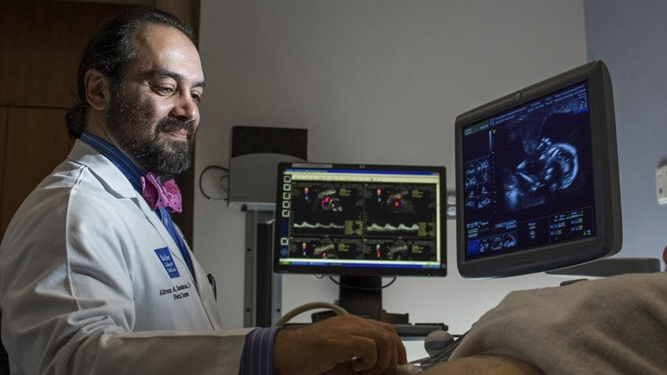 Dr. Alireza Shamshirsaz, an Iranian-born professor of obstetrics and gynecology at Baylor College of Medicine, is part of the Texas Children's Fetal Center,'one of only a handful of centers in the world capable of performing complicated open fetal surgeries.