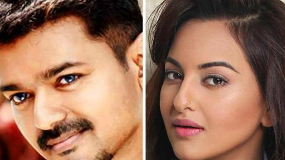 Sonakshi has worked in Tamil film Lingaa before. This will her first with Vijay.
