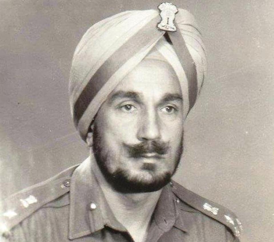 A photo of Major General KS Bajwa, then a brigadier in command of 36 Artillery Brigade, in 1970.