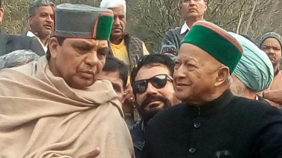 HP chief minister Virbhadra Singh at the victim's funeral in Solan on Saturday.