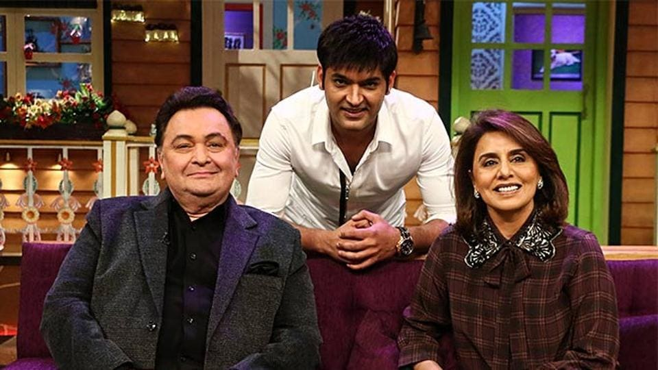 Rishi Kapoor and Neetu Singh met their future daughter-in-law: A tall, dark and beautiful woman dressed in red salwar kameez on The Kapil Sharma Show's Saturday episode.