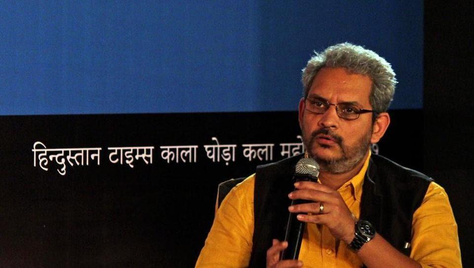 Photographer Chirodeep Chaudhuri at DSL Garden on Saturday.