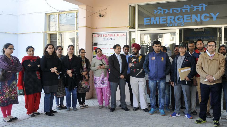 Civil hospital,staff,'misbehaviour'