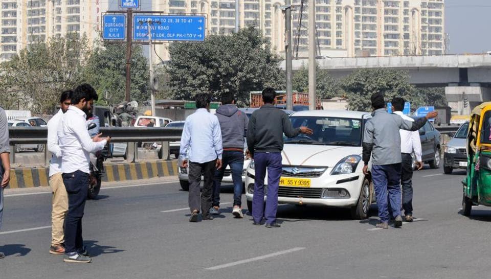 Gurgaon,cab strike,NCR