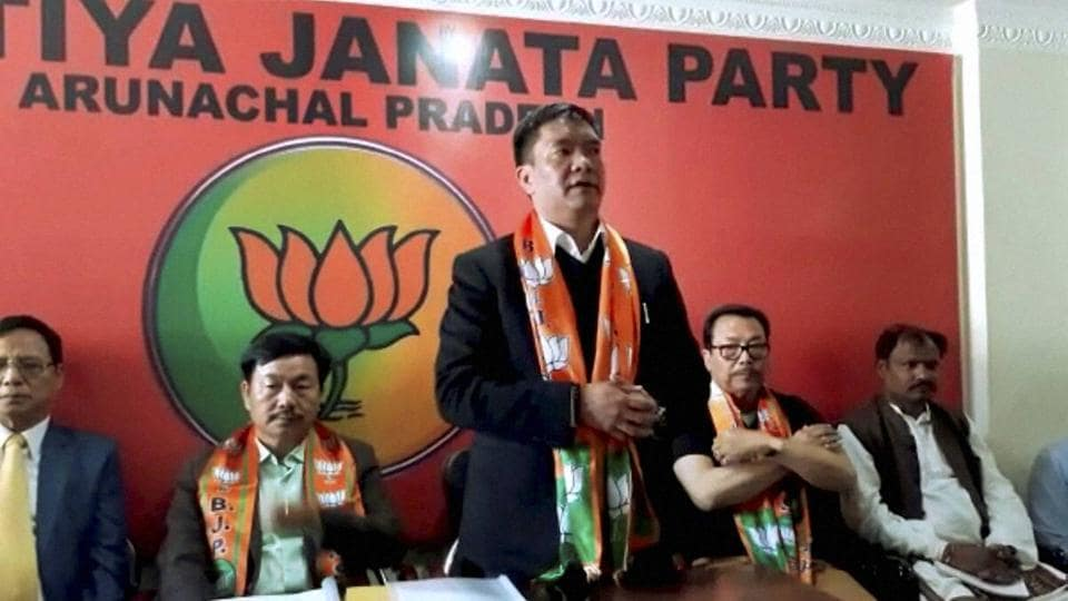 Chief minister of Arunachal Pradesh Pema Khandu at Itanagar in Arunachal Pradesh. There is speculation that the BJP government led by Pema Khandu might frame the rules to check missionary activities.