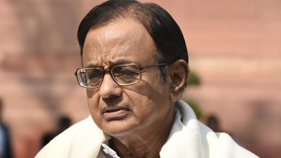 Senior Congress leader and former finance minister P Chidambaram.