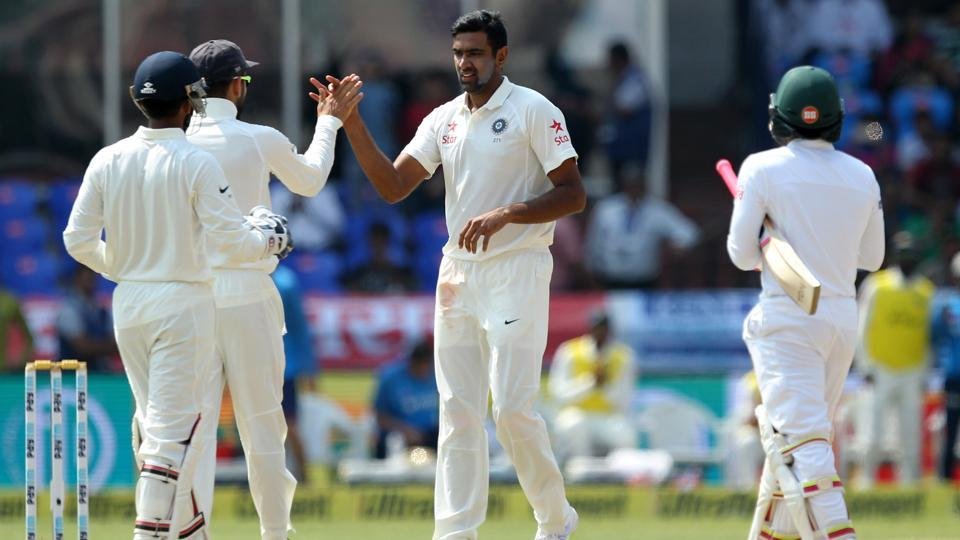 Ravichandran Ashwin became the fastest bowler to take 250 wickets in Tests as India ended day 4 of the Hyderabad Test on top versus Bangladesh. (BCCI)
