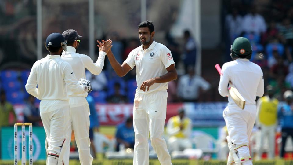 Ravichandran Ashwin took his 250th wicket in just his 45th Test, surpassing the record set by Dennis Lillee in the one-off Test between India vs Bangladesh in Hyderabad.