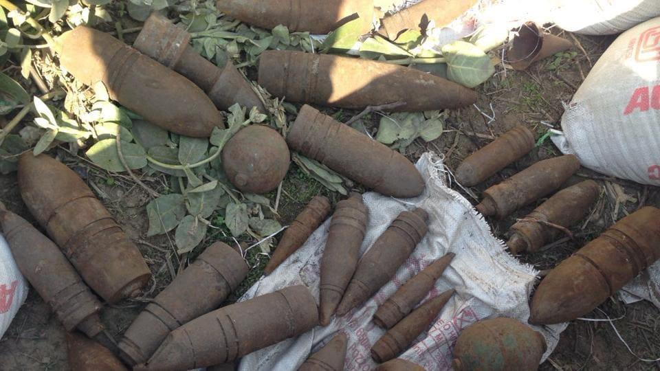 Unexploded shells,rockets,Dehlon police