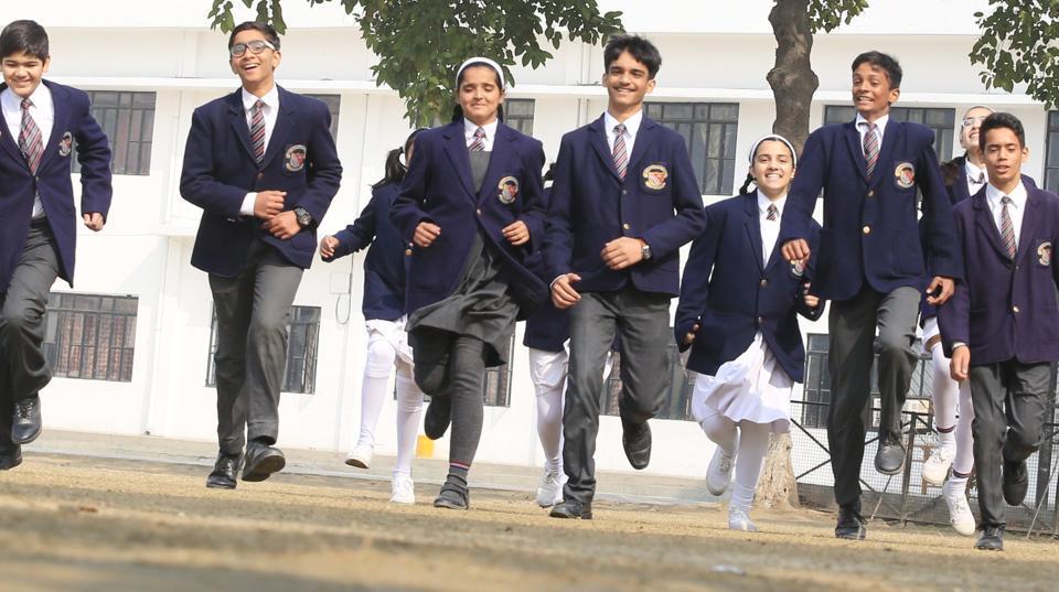 Students of City Montessori School in Lucknow.