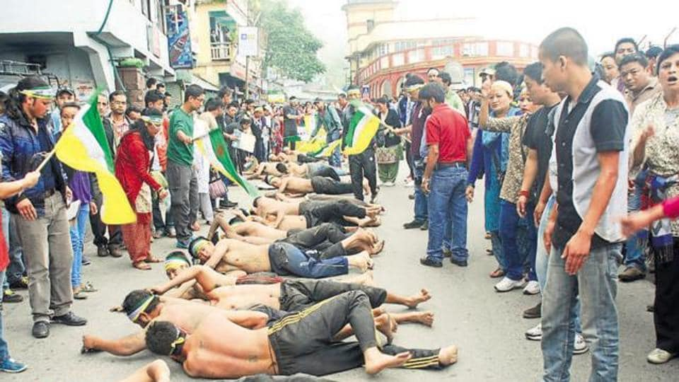 The Darjeeling Hills have been the theatre of many violent stirs demanding a separate state of Gorkhaland.