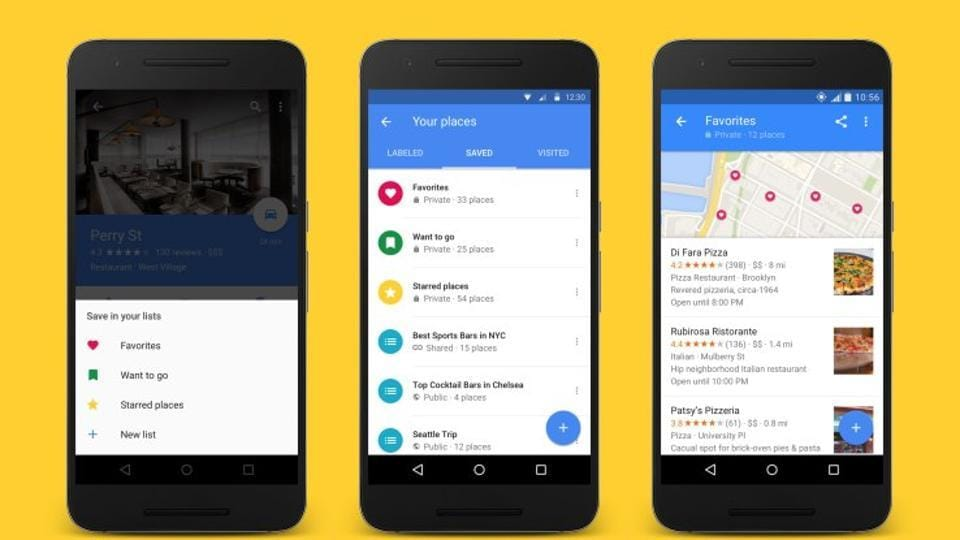 Google Maps now allows to create, share lists of favourite