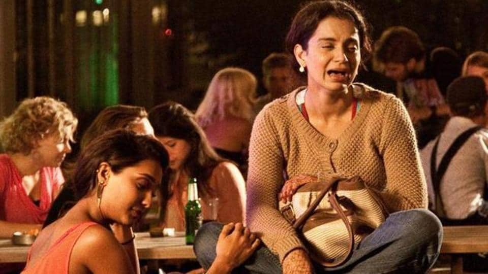 Kangana Ranaut and Lisa Haydon in a still from the 2013 film, Queen, that celebrates singledom.