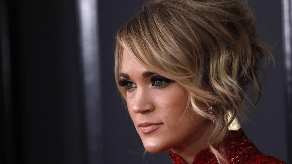 Singer Carrie Underwood at the awards ceremony. (REUTERS)