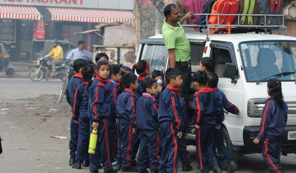 Many parents prefer their children to ride on these private vans as they want them to be home early after school.