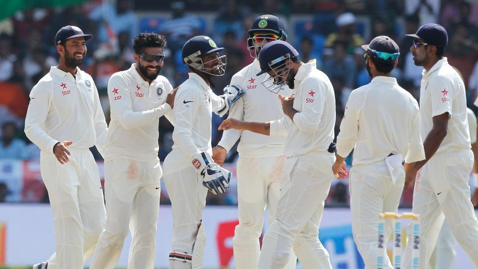 Ravindra Jadeja and Ravichandran Ashwin picked up four wickets apiece as India secured a 208-run win over Bangladesh in the one-off Test in Hyderabad.