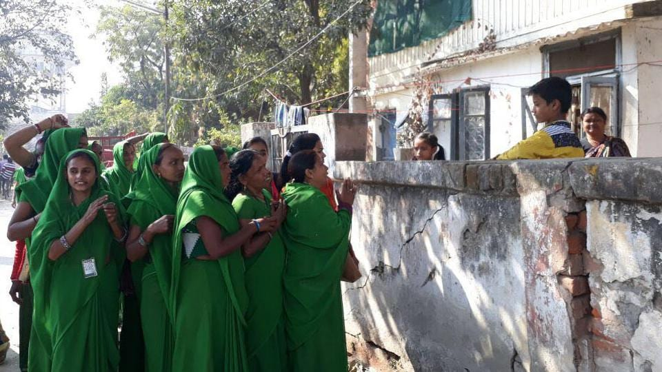Members of women green group from Khusyari village spreading voters awareness drive along with the mentors from Hope welfare trust for coming assembly election in the state at Varanasi on Monday, February 6, 2017.