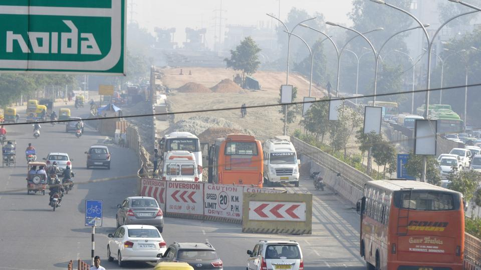 Noida,elevated road,june