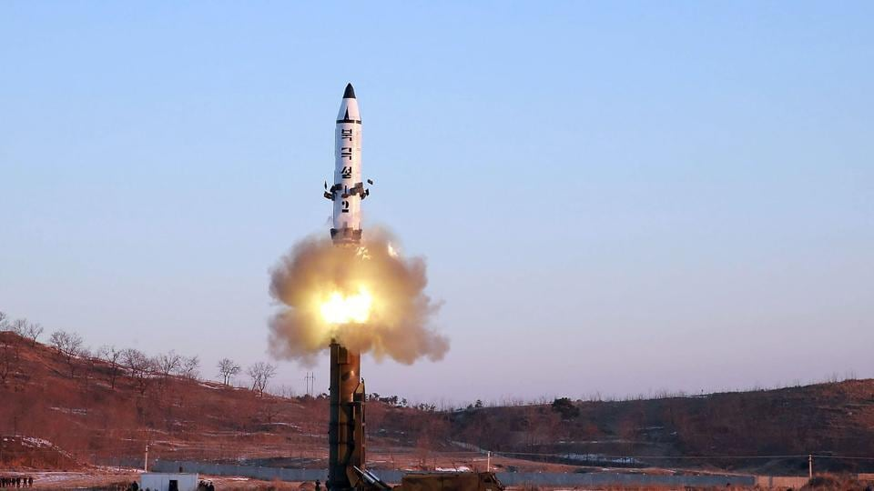 Launch of a surface-to-surface medium long-range ballistic missile Pukguksong-2 at an undisclosed location by North Korea.