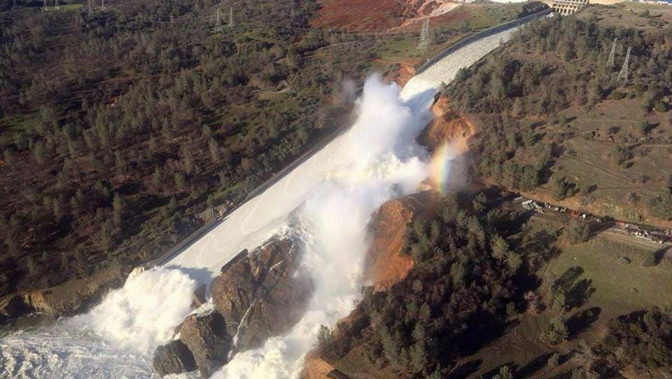 Crumbling california's crumbling oroville dam spillway prompts urgent