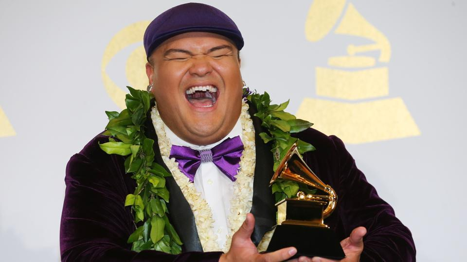 E Walea holds the award for Best Regional Roots Music Album for Kalani Pe'a. (REUTERS)