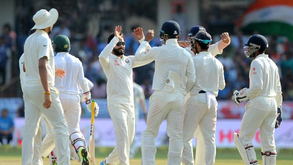 India beat Bangladesh by 208 runs in Hyderabad. Catch cricket score of India vs Bangladesh, one-off Test, here.