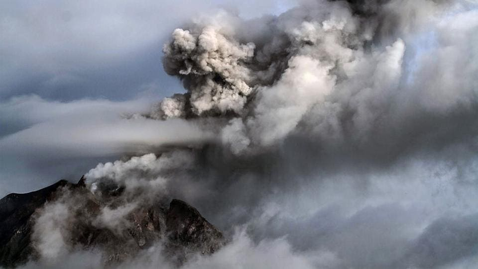 Indonesia is home to around 130 volcanoes due to its position on the 'Ring of Fire', a belt of tectonic plate boundaries circling the Pacific Ocean where frequent seismic activity occurs. (AFP PHOTO)